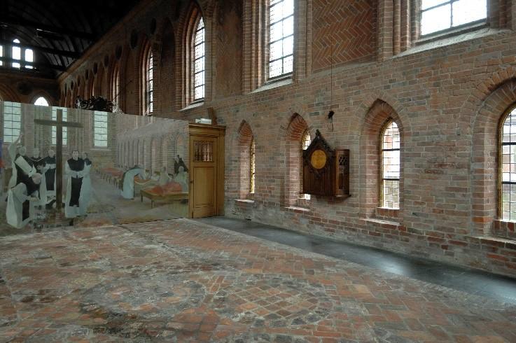 Ziekenzaal voormalig Cisterciënzer klooster in Aduard